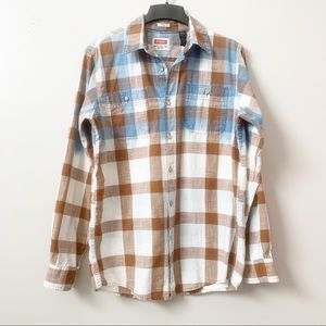 Upcycled Plaid Flannel Reverse Tie Dye Bleached